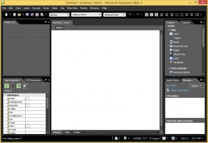 Expression Web Default Screen