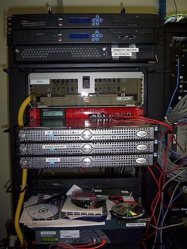 Web Hosting Providers use server racks for multiple servers and storage units