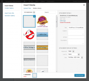 Working with images is even easier in WordPress 3.5
