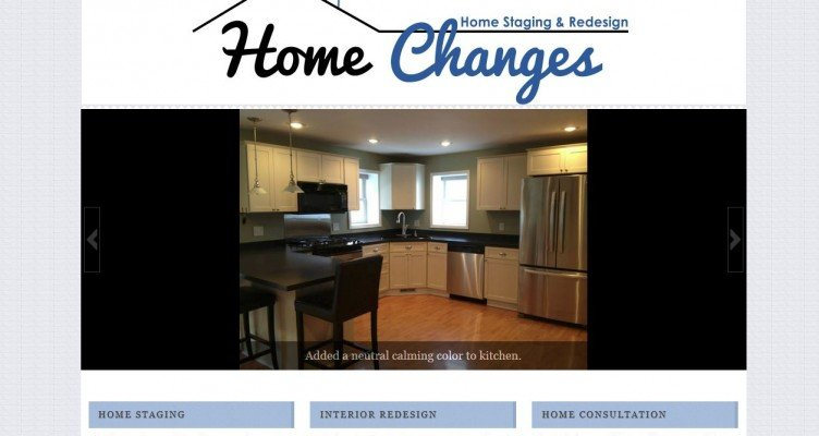 "Custom Thesis 2.1 Skin for ""Home Changes Staging & Redesign"""