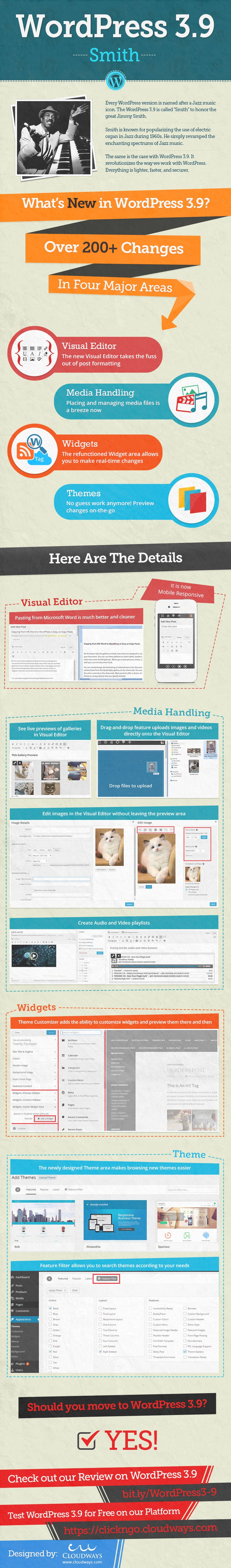 WordPress 3.9 infographic