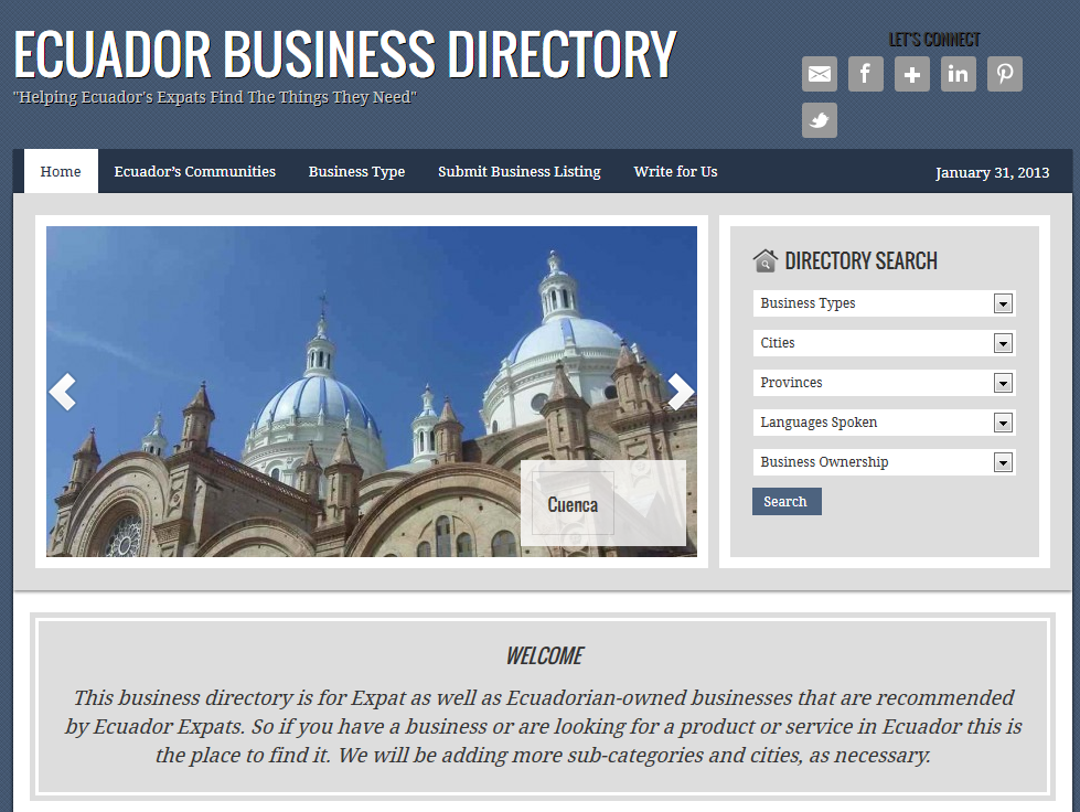 Ecuador Expats Business Directory