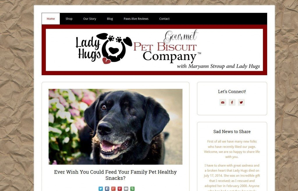 Lady Hugs Gourmet Pet Biscuit Company