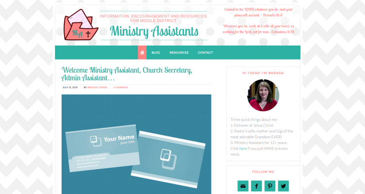 Ministry Assistants Blog