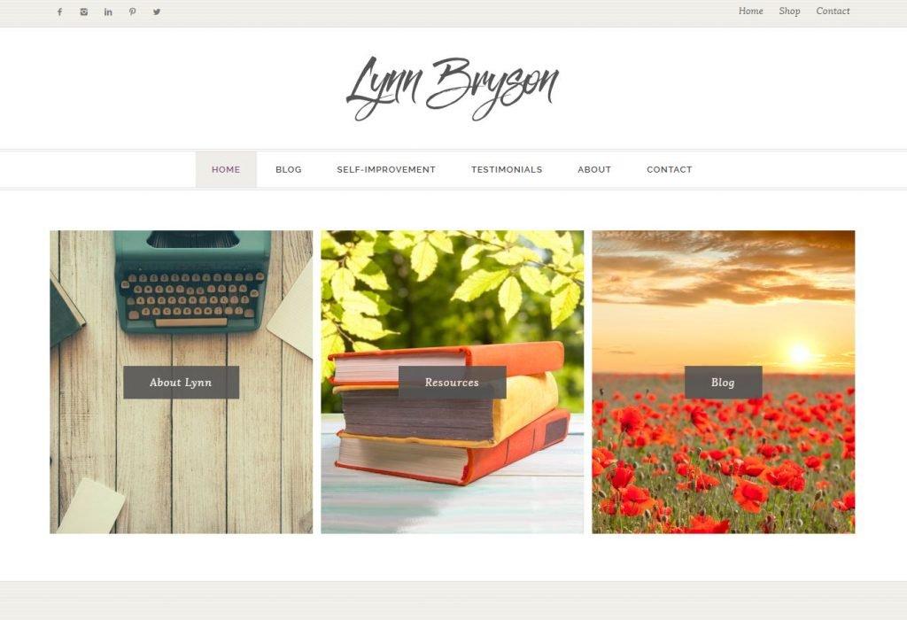 LynnBryson.com home page