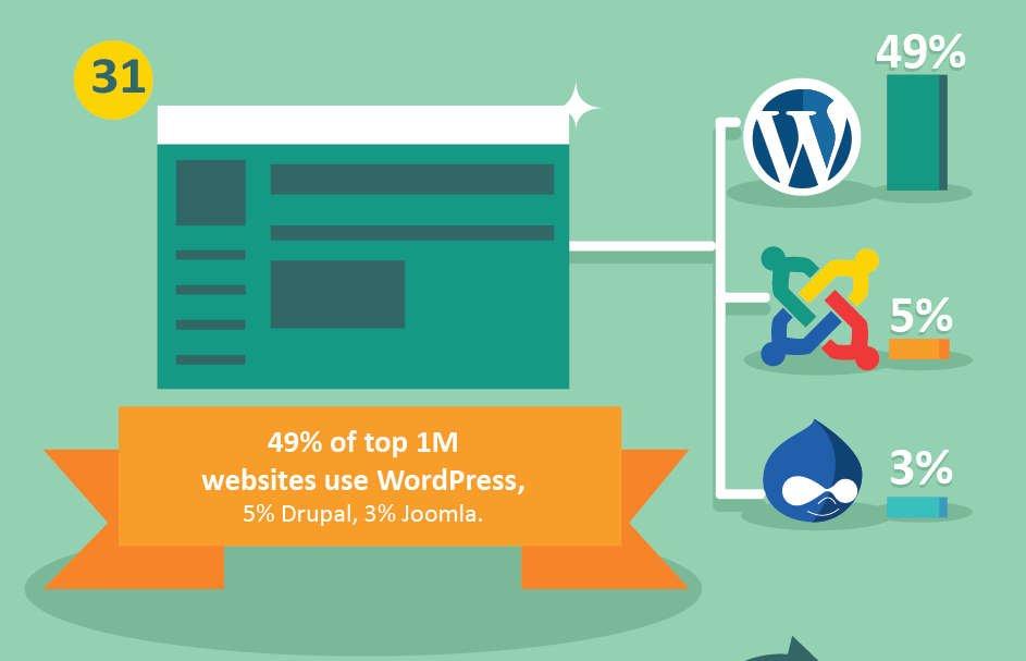 WordPress used by 48% of top 1M websites worldwide