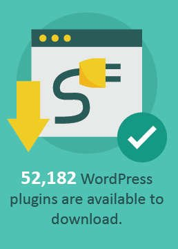 Over 50,000 plugins available for WordPress